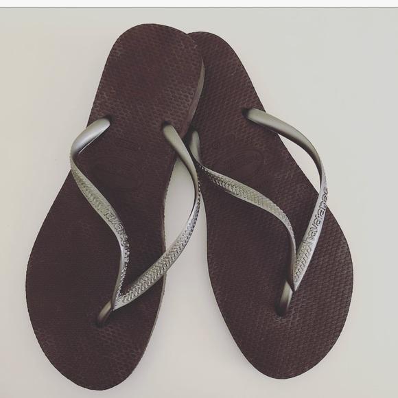 c50f5efdfd63 Havaianas Shoes - Havaianas slim chocolate brown size 7 8